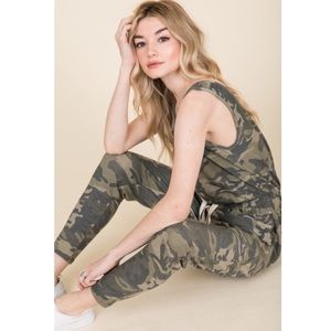 Pants - 🆕 French Terry Camouflage Jumpsuit